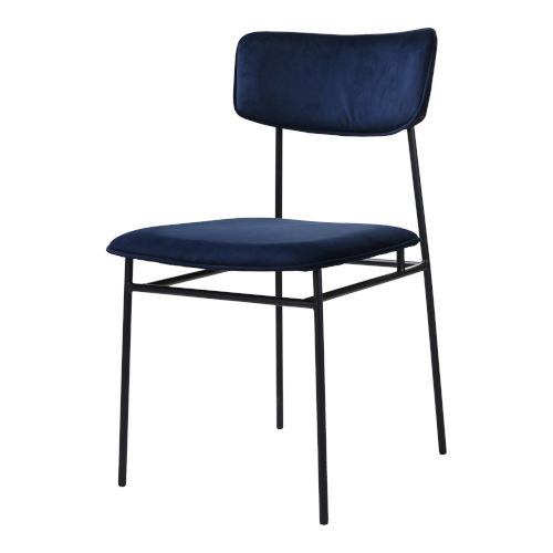 Sailor Blue and Black Dining Chair, Set of 2