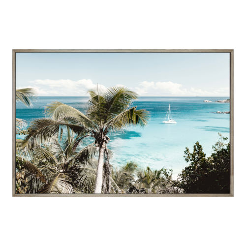 Multicolor Tropical Bay Wall Decor Painting