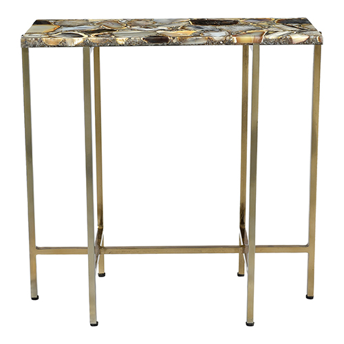 Agate Multicolor 21-Inch Accent Table