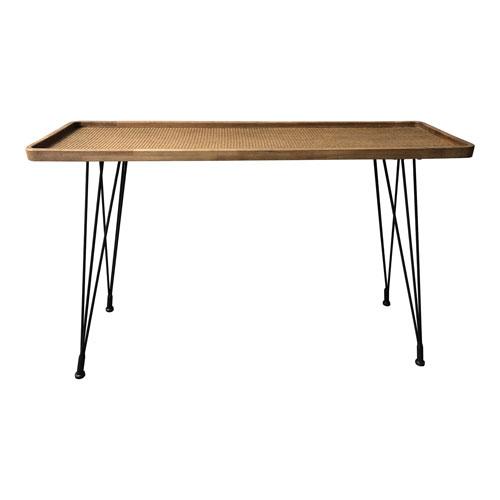 Rollo Rattan 48-Inch Console Table