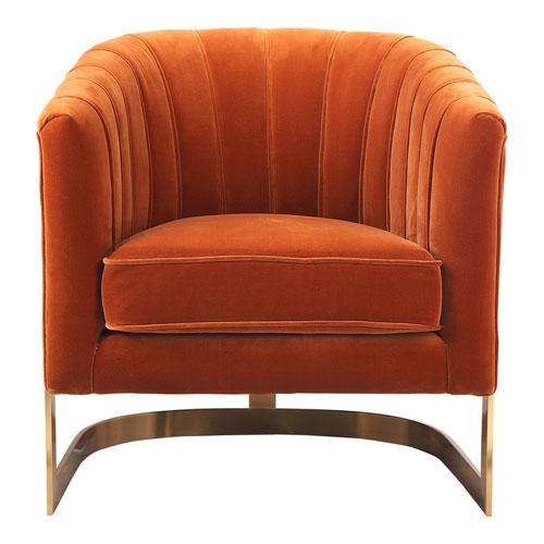 Carr Orange Arm Chair