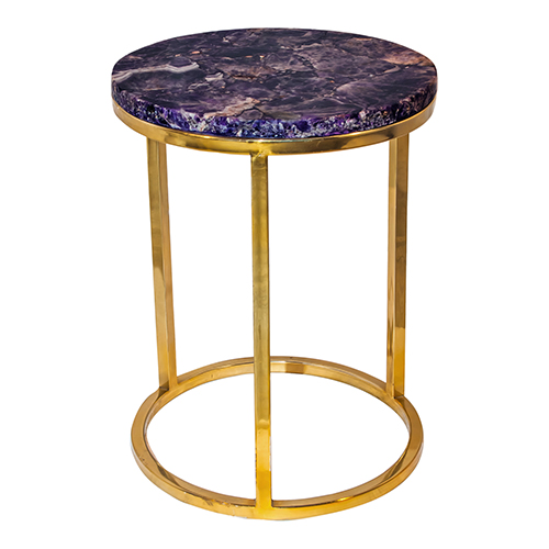 Amethyst Purple 21-Inch Accent Table