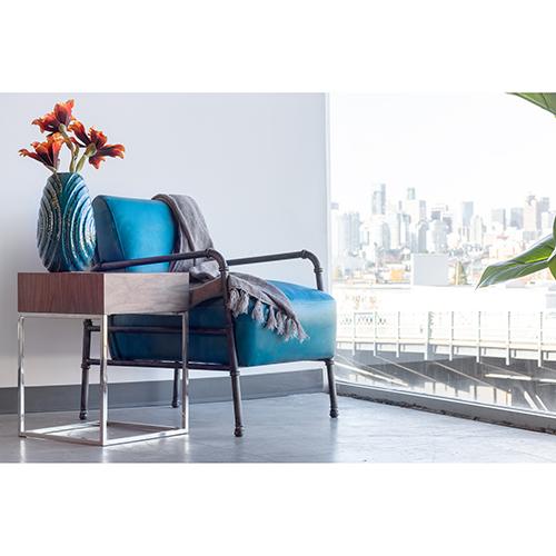 Moe s Home Collection Royce Blue Club Chair Pk 1037 26  e9b33ef4b