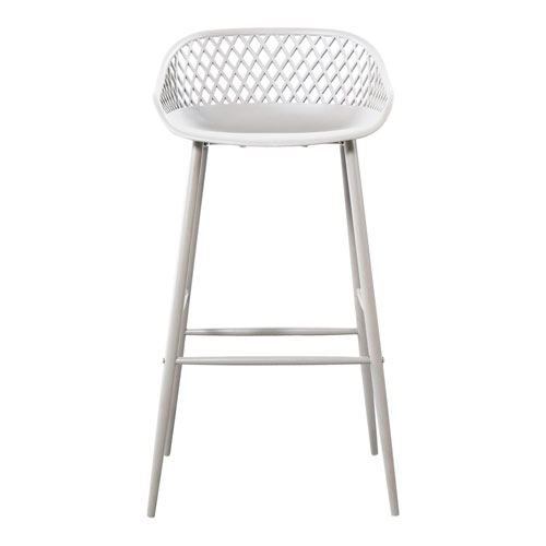 Piazza White Bar Stool - Set of Two