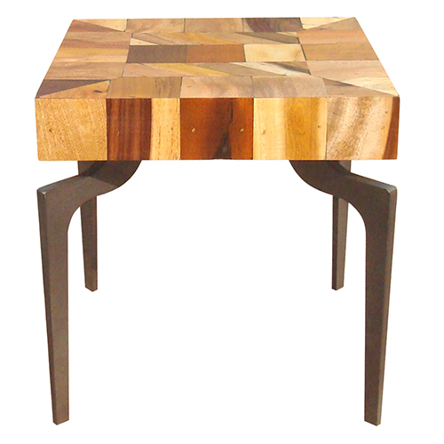 Moe's Home Collection  Gajel Side Table With Metal Legs
