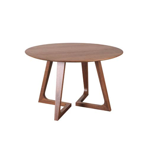 Moe's Home Collection  Godenza Walnut Round Dining Table