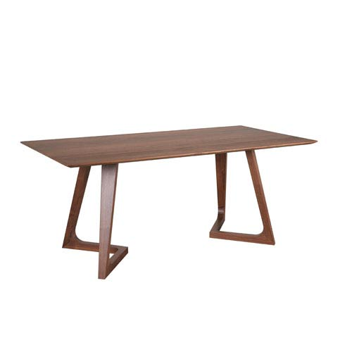 Moe's Home Collection  Godenza Walnut Rectangular Dining Table