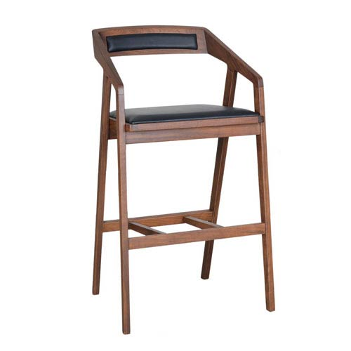 Moe S Home Collection Padma Walnut Barstool Cb 1026 03 Bellacor