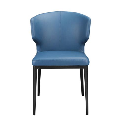 Delaney Side Chair Steel Blue, Set of 2
