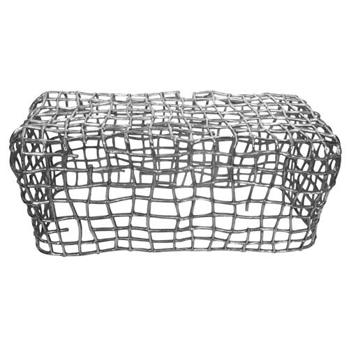 Silver Cage Bench