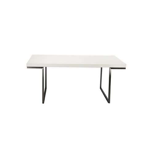 Repetir White Lacquer Dining Table
