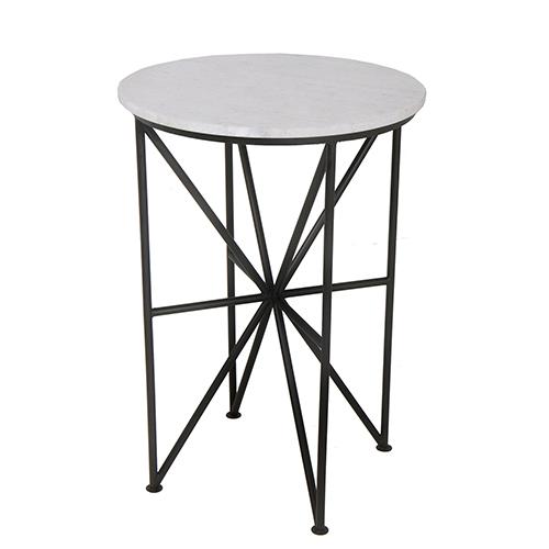 Quadrant Glass Accent Table Black