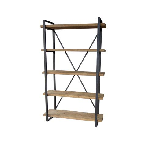 Moe's Home Collection  Lex Natural 78-Inch Five Level Shelf