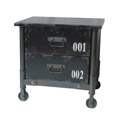 Soho Black Two Drawer Cabinet