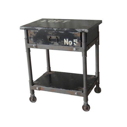 Soho Black One Drawer Cabinet