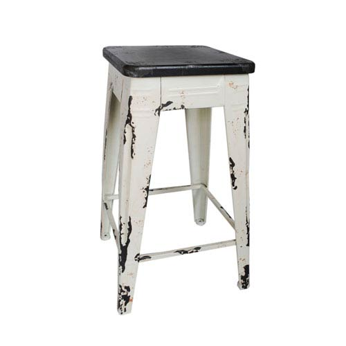 Sturdy White 26-Inch Counter Stool