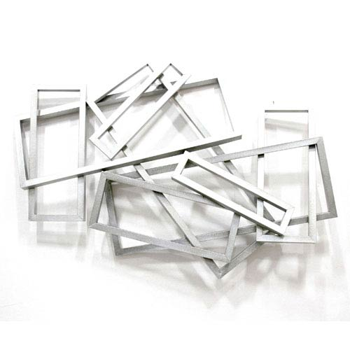 Metal Silver Rectangular Wall Decor