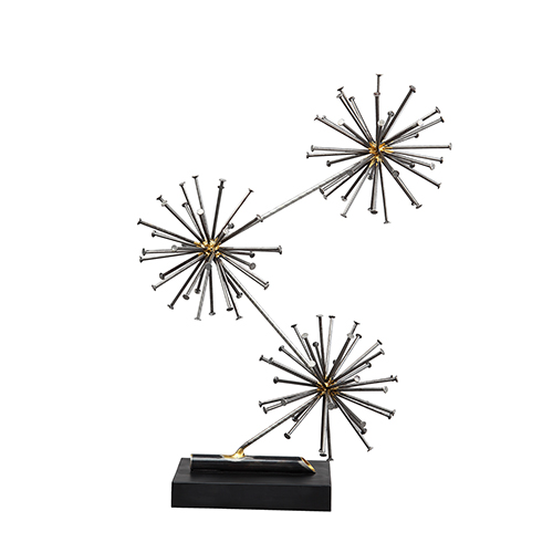 Moe's Home Collection  Spike Sculpture Black