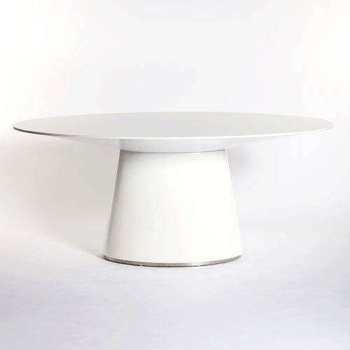 Otago White Oval Dining Table