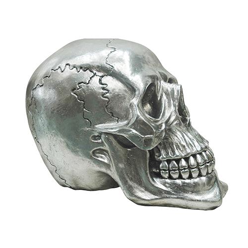 Moe's Home Collection  Yorick Skull Gun Metal