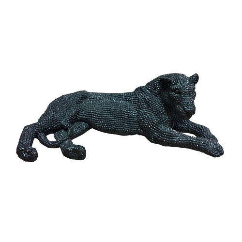 Panthera Statue Black