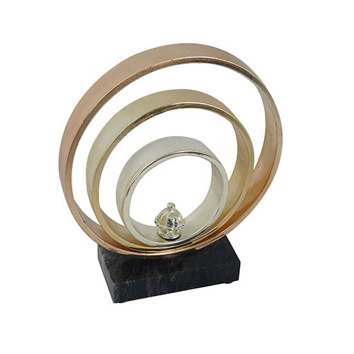 Gold Bands Table Top Décor Small