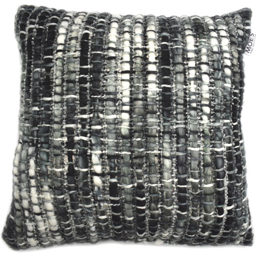 Moe's Home Collection  Brooks Black Feather Cushion 20X20