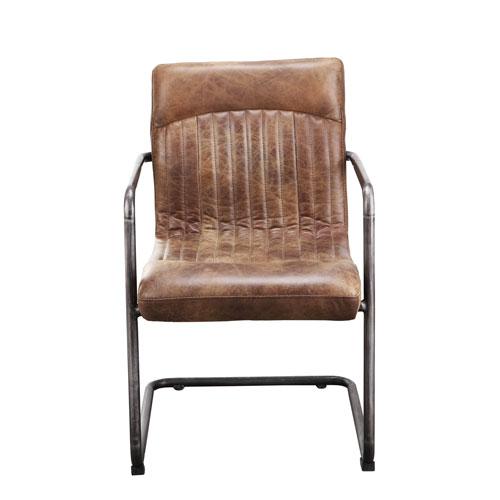 Ansel Light Brown Arm Chair, Set of 2