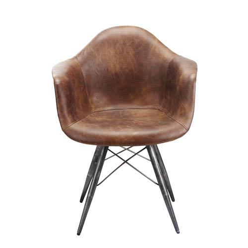Flynn Light Brown Club Chair