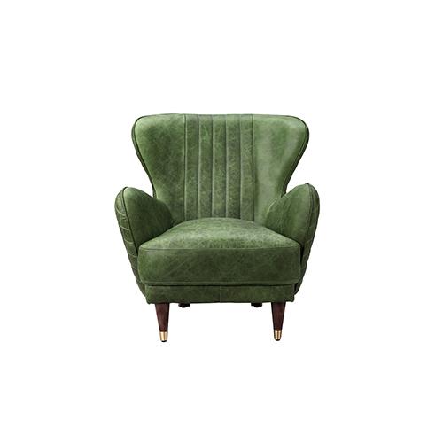 Keaton Leather Arm Chair Emerald