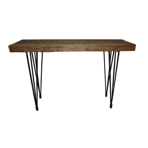 Moe S Home Collection Boneta Natural 36 6 Inch Console Table