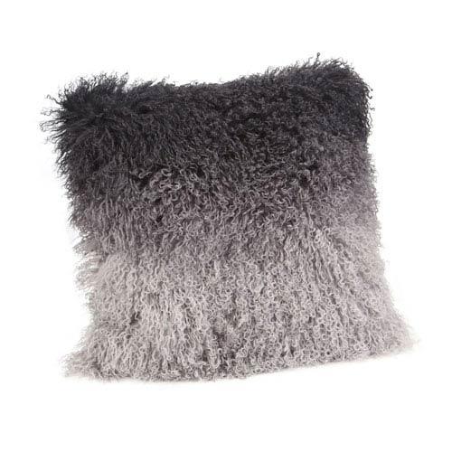 Grey Spectrum Lamb Fur Pillow