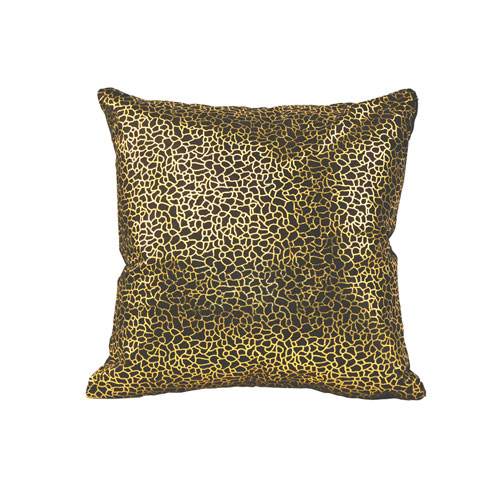 Moe's Home Collection  Daisy Pillow Black And Gold
