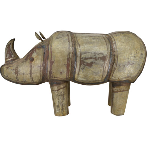 Iron Rhinoceros Sculpture
