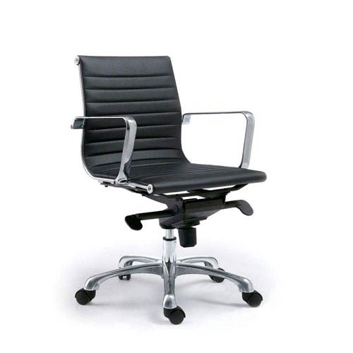 Omega Low Back Black Office Chair, Set of 2