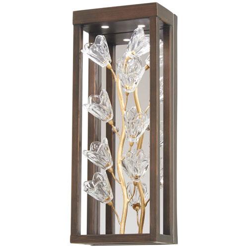 Maison Des Fleurs Regal Bronze with Empire Gold LED Wall Sconce