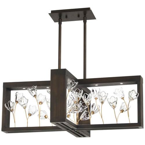 Maison Des Fleurs Regal Bronze with Empire Gold 10-Inch LED Island Chandelier