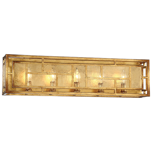 Edgemont Park Pandora Gold Leaf 29-Inch Five-Light Bath Light