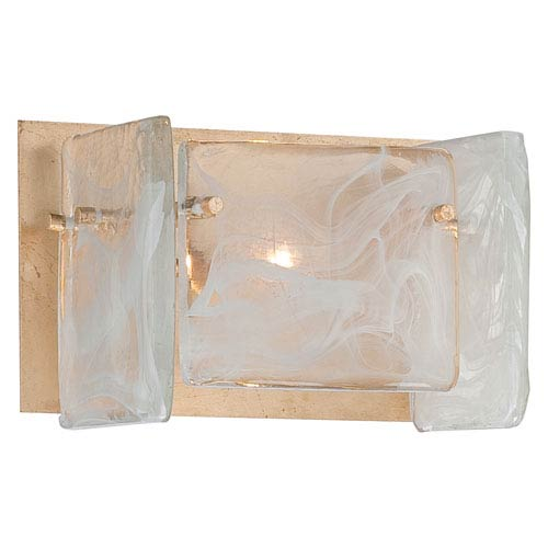 Arctic Frost Antique French Gold One-Light Bath Light