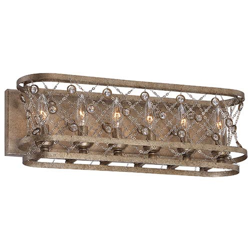 Vel Catena Arcadian Gold Six-Light Bath Fixture