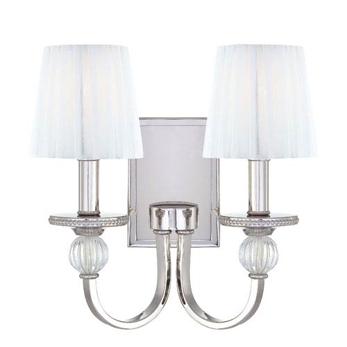 Aise Polished Nickel Two-Light Wall Sconce