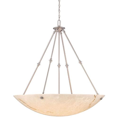 Virtuoso II Pewter Plated Eight-Light Bowl Pendant
