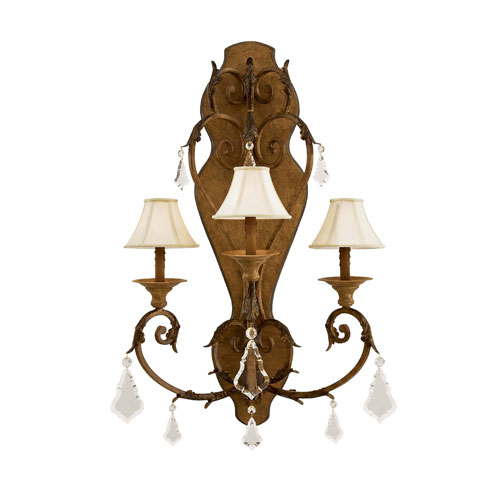Metroplitan Three-Light Crystal Sconce