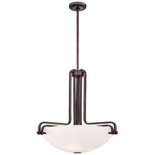 Metropolitan Lighting Industrial Bronze Three-Light 22.25-Inch Pendant