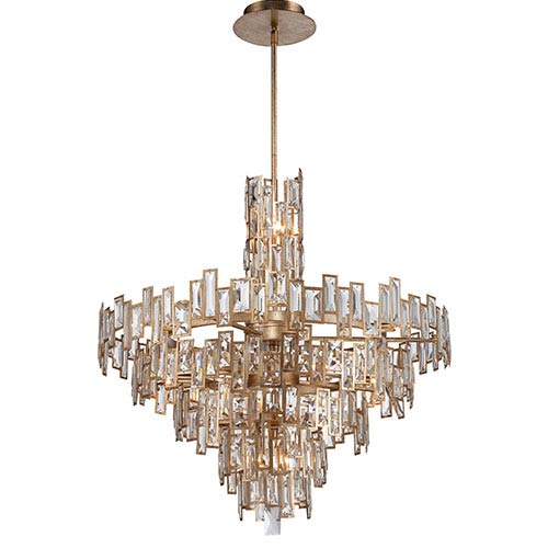 Metropolitan Lighting Bel Mondo Luxor Gold 21-Light Chandelier