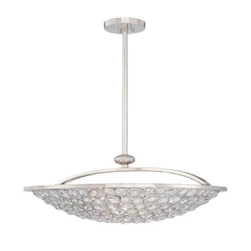 Metropolitan Lighting Magique Polished Nickel Five-Light Bowl Pendant
