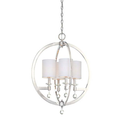 Metropolitan Lighting Chadbourne Polished Nickel Four-Light Pendant