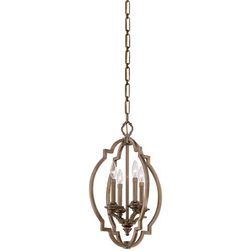 Leichester Aged Brass Four-Light Pendant
