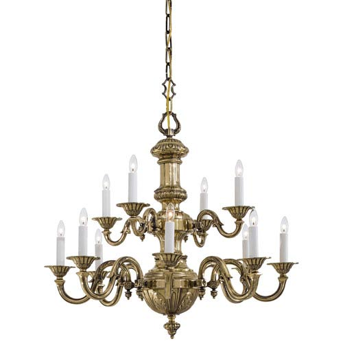 Metropolitan Lighting Classic Brass Twelve-Light Chandelier