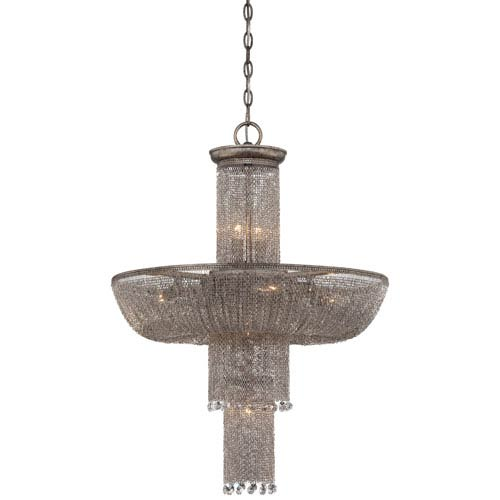 Metropolitan Lighting Shimmering Falls Antique Silver Eight-Light Pendant